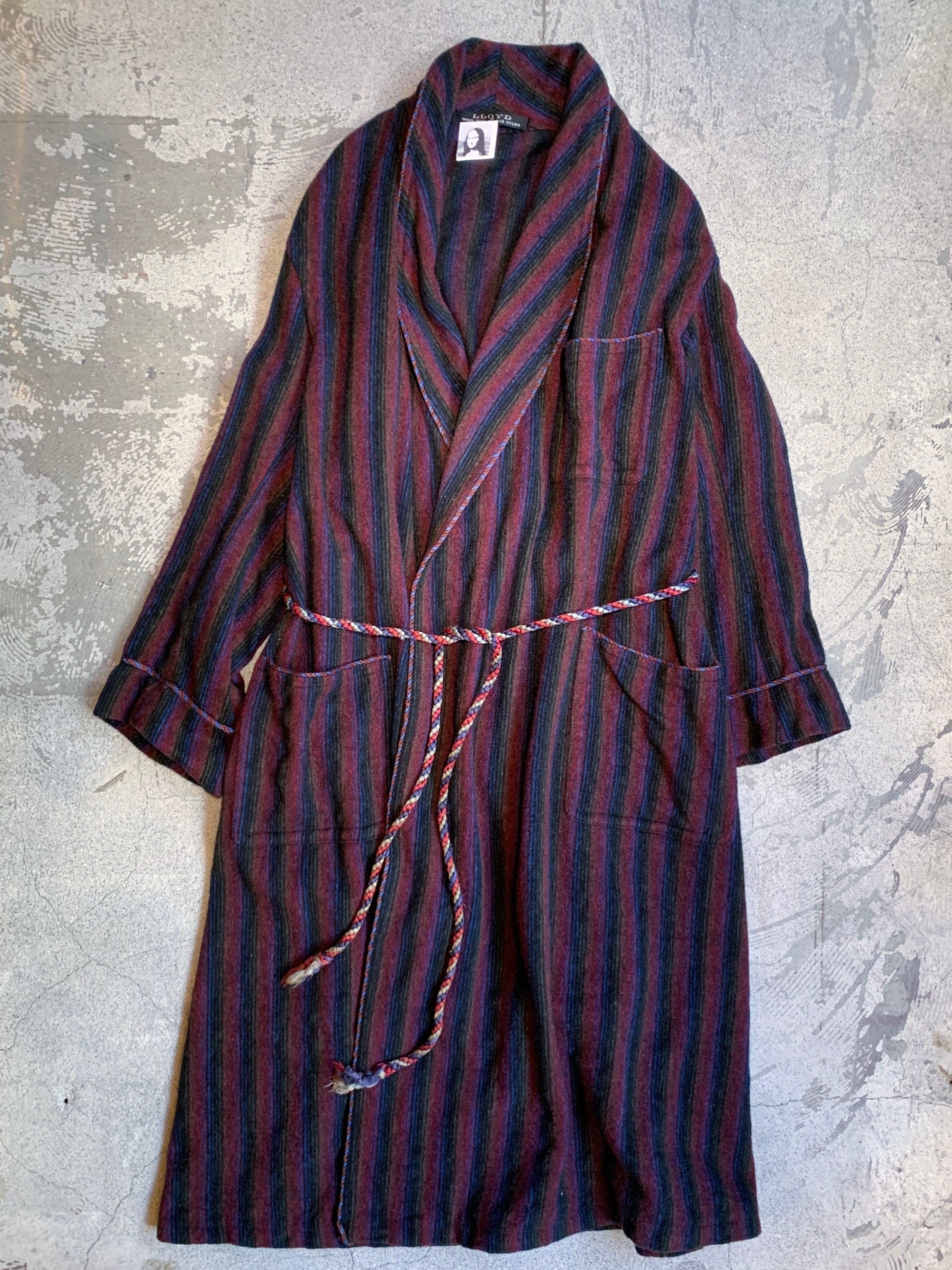 vintage stripe wool gown