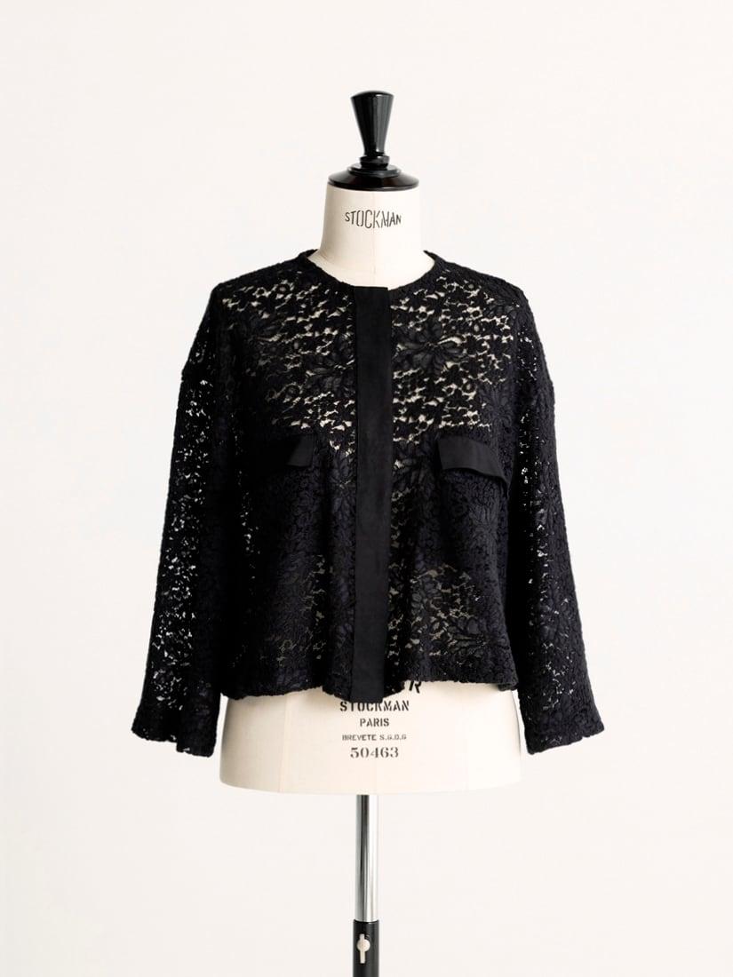 wool race blouse