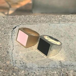 slice cut stone ring