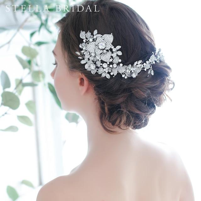 【受注生産品】スワロ使用 ウェディングヘッドドレス ローズ・ヴァイン | ウェディングヘアアクセサリー