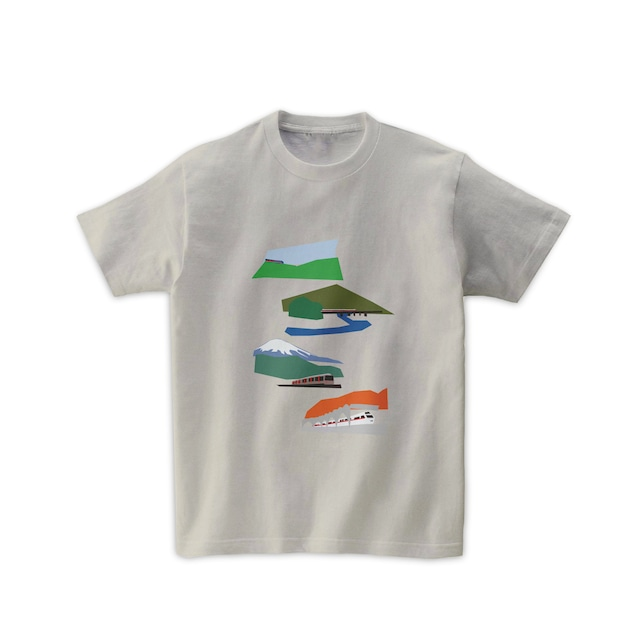電車Tシャツ-箱根旅
