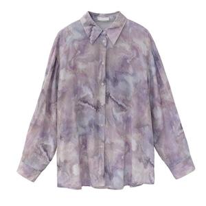 Tie dye pale color  shirt(タイダイペアカラーシャツ)b-030