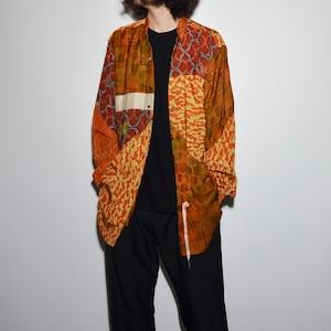 "Crazy Pattern ""NIPPON SILK"" Shirt Coat 〈C〉"