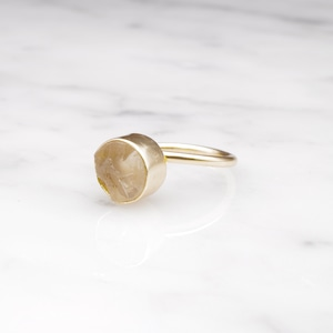 ROUGH STONE RING GOLD 014