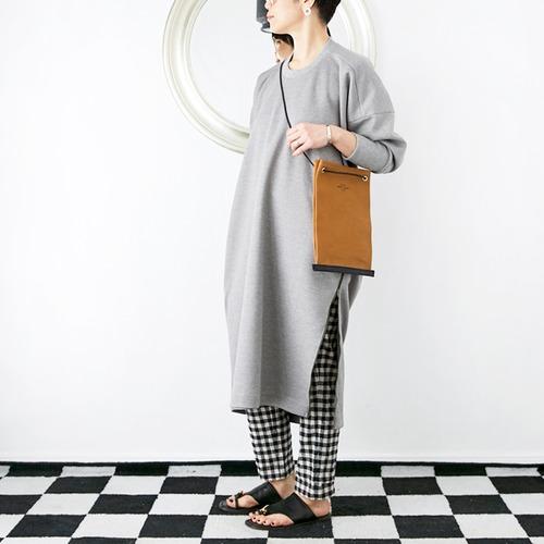 [OUTLET]L'Ancre (アンカー)コクーンスウェットドレス