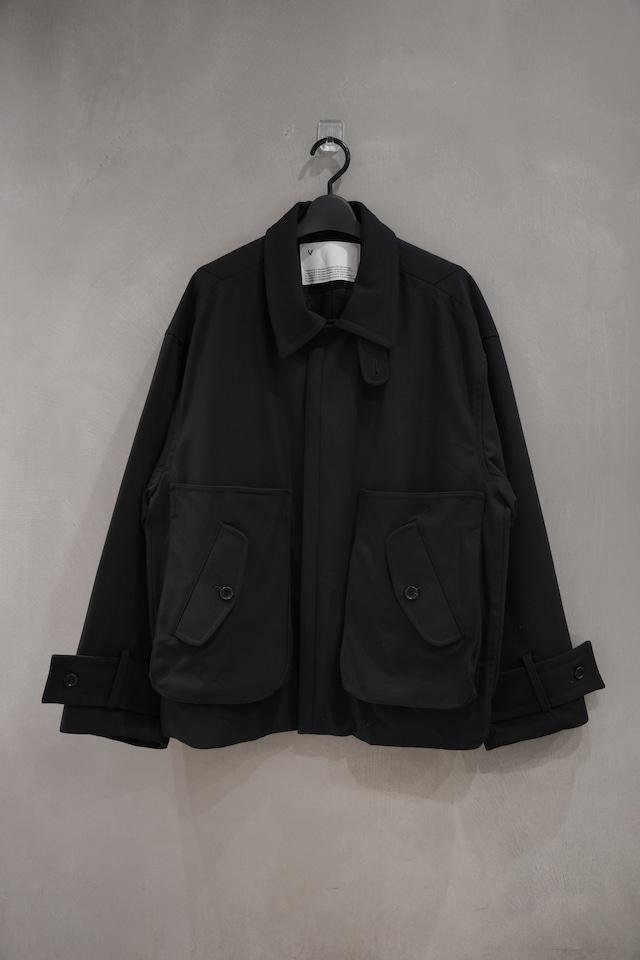 VOAAOV Vintage Wool Wide Blouson Black