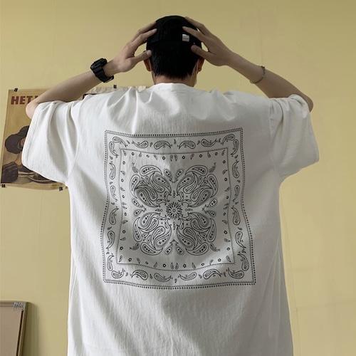 ペイズリープリントTシャツ BL8423
