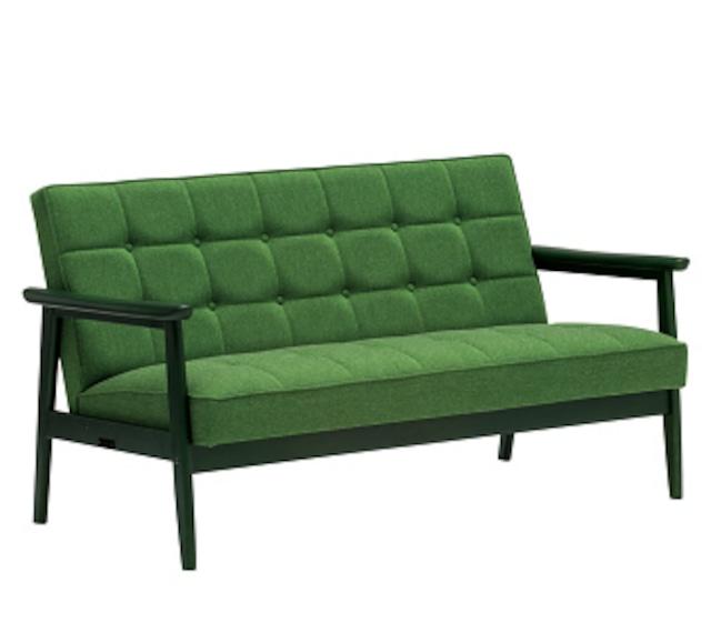 【カリモク60】Kチェア2シーター グリーングリーン