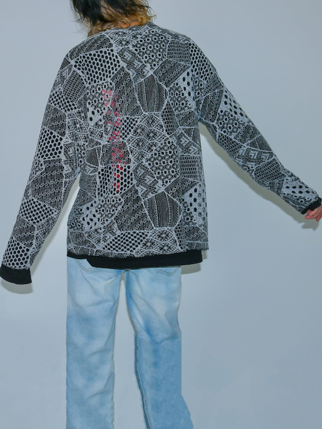 【UNISEX - 1 Size】OVERFIT MESH PUZZLE TEE / 2colors