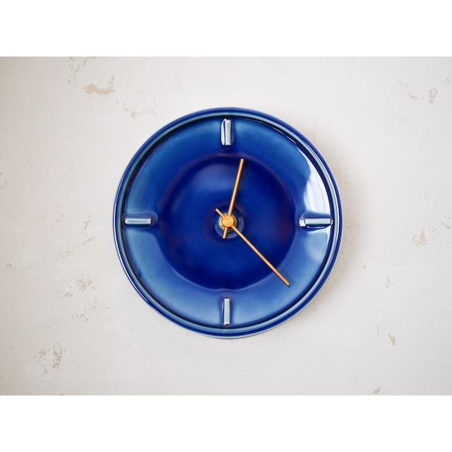 〔美濃焼〕Navy Blue Glazed Clock by SUGY