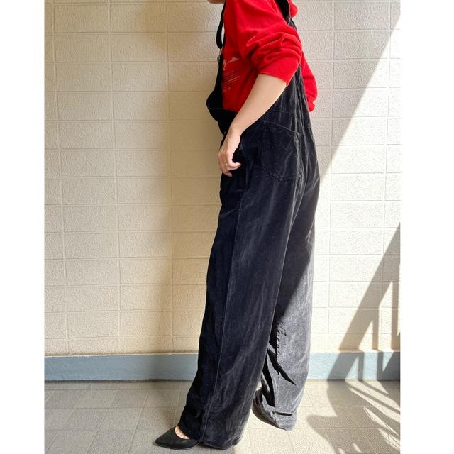 black velours overall