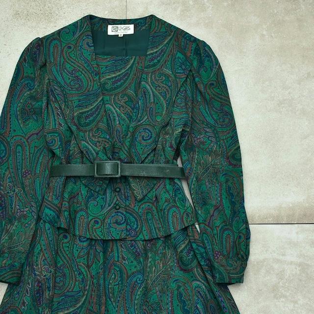 Jp vtg paisley pattern design one-piece