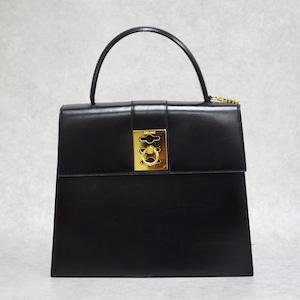 CELINE セリーヌ ハンドバッグ ボックスカーフ ブラック