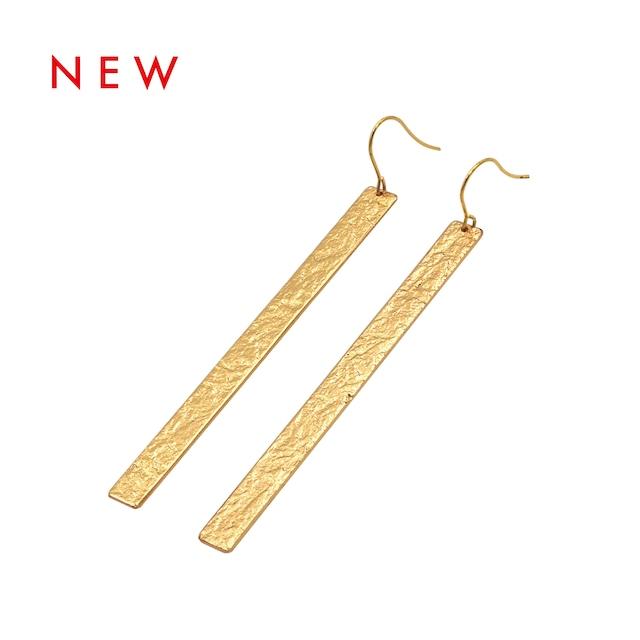 《ピアス》TIN BREATH Pierced earring  H7×80mm  Gold