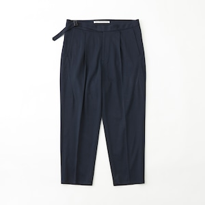 TWILLED JERSEY 1TUCK PANTS - NAVY