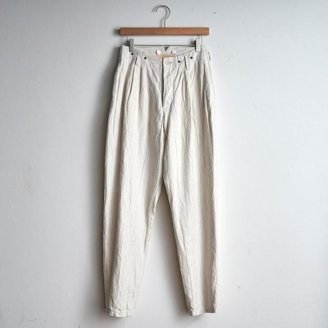 suzuki takayuki スズキタカユキ  tapered pants   テーパードパンツ S211-29 nude (レディス)
