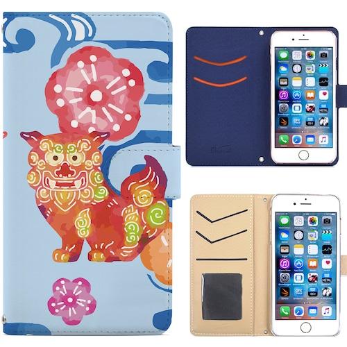 Jenny Desse iphone 7 ケース 手帳型 カバー スタンド機能 カードホルダー ブルー(ホワイトバック)