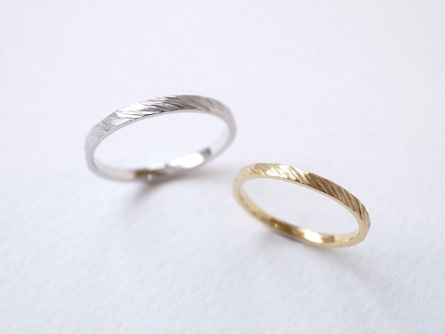【pairing】K18YG・silver950/fur ring