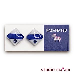 ■KASAMATSU-09 ピアス。しかく。〜イヤリング変更可〜