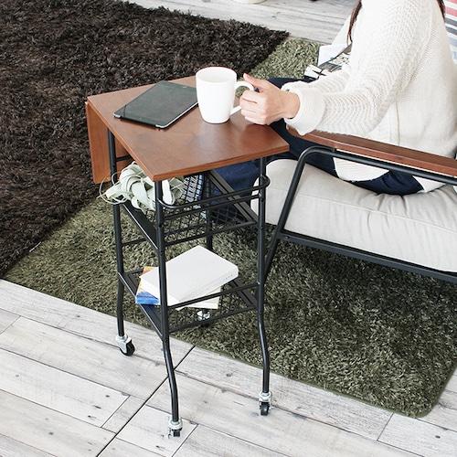 移動式男前サイドテーブル。多機能&かっこいい存在感!