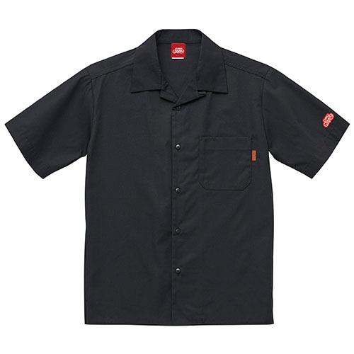 オープンカラーシャツ 半袖 / ブラック   SINE METU - シネメトゥ
