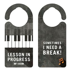 LESSON IN PROGRESS 練習中 ピアノ[1131] 【全国送料無料】 ドアサイン ドアノブプレート