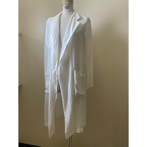 【hippiness】cupro coat(ivory)Sサイズのみ/【ヒッピネス】キュプラ コート(アイボリー)Sサイズのみ