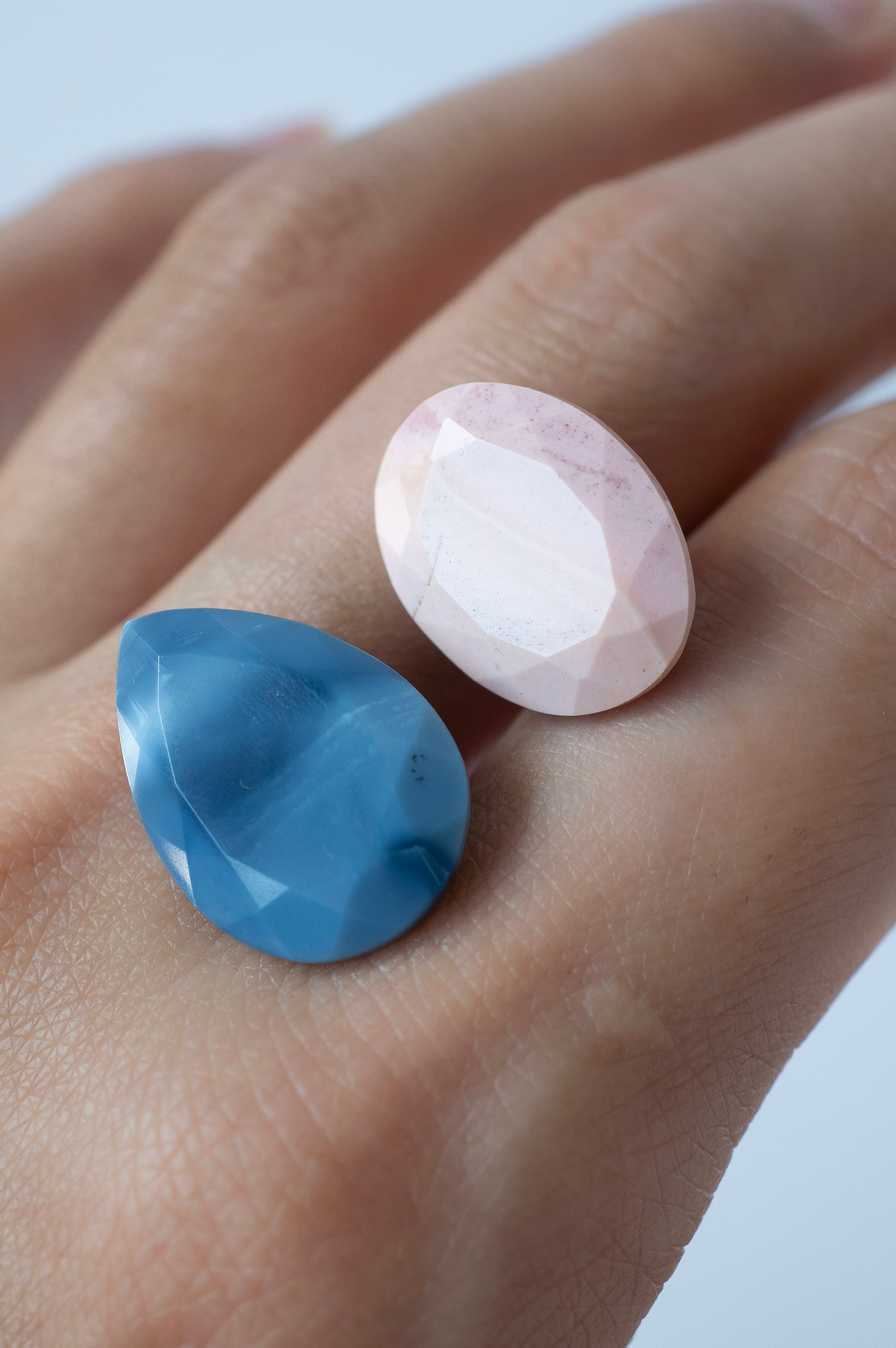 Pink & Blue Opal Set - 011