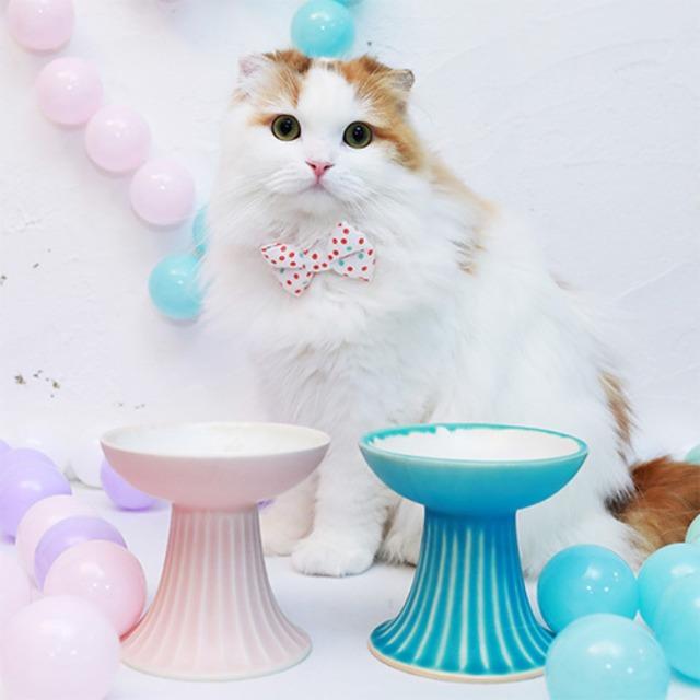 モフー×平安楽堂のオリジナル猫用食器皿「スウィーティー」