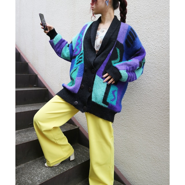 Euro geometry knit outer