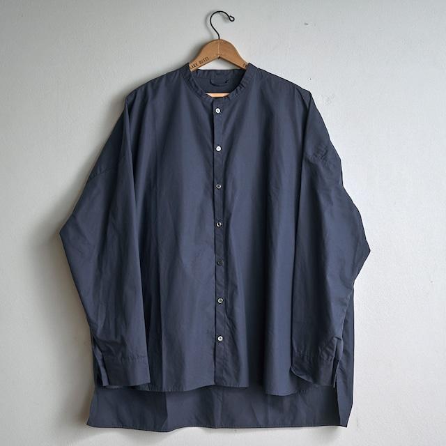 les trois entrepots オリジナル no.1 スタンドカラーシャツ ネイビー
