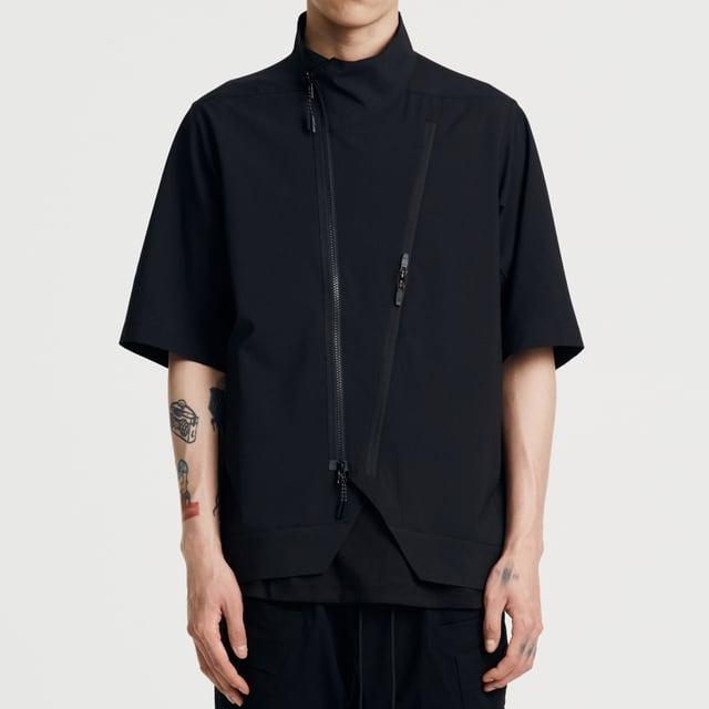 NOSUCISM 21SS  スラッシュポケットジッパーシャツ