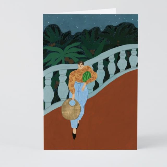 WRAP / Watermelon Carrier  ART CARD -Artwork by Isabelle Feliu-