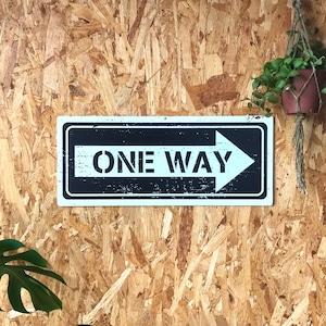トラフィックサインボード 「ONE WAY」黒