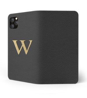 iPhone Premium Shrink Leather Case (Ink Black)  : Book cover Type