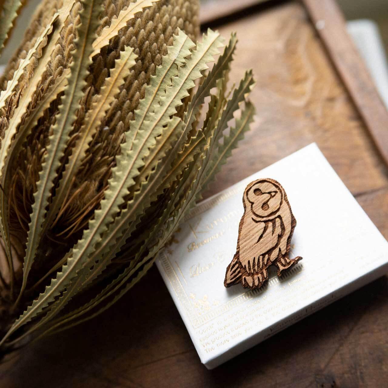 barn owl / メンフクロウ(Brooch)