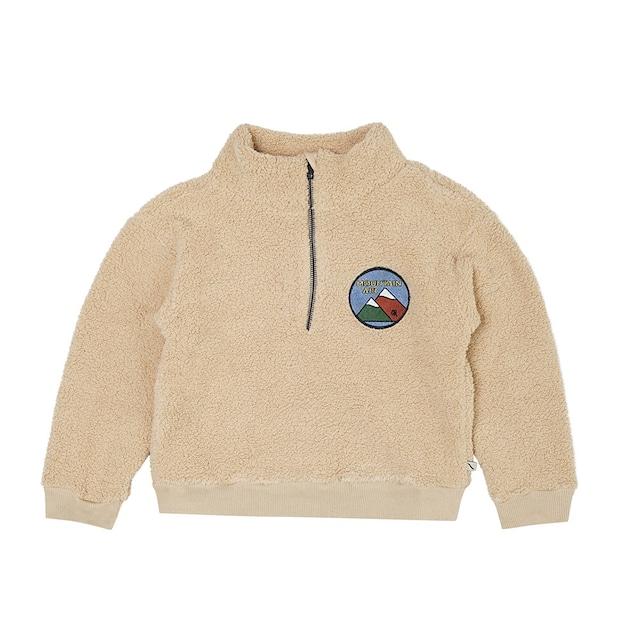 【21AW】カーラインク(CARLIJNQ)Mountain Air teddy sweater wt zipper&embr  山 ジップフリース