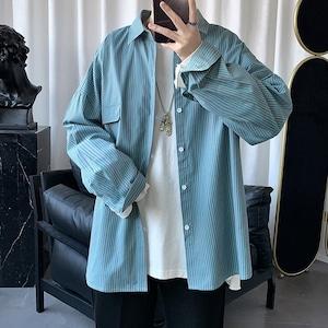 ワンポケットストライプシャツ BL8262