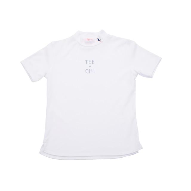 【 LADIES 】サンゴクロス モックネック シャツ 【SQUARE】(WHITE)