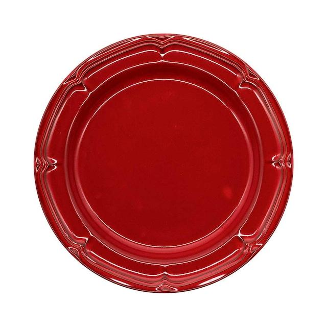 Koyo ラフィネ リムプレート 皿 約23.5cm ヴィンテージレッド 15944104