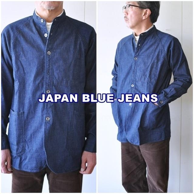JAPANBLUEJEANS  ジャパンブルージーンズ  ノーカラーシャツジャケット J3510  ジャケット シャツジャケ