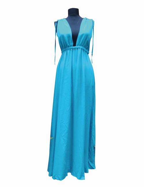 Maxi Night&Resort Dress AegenseaBlue マキシナイト&リゾートドレス エーゲ海ブルー