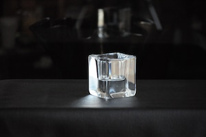 Crystal Cube Candle Holder by Göran Wärff for Kosta Boda