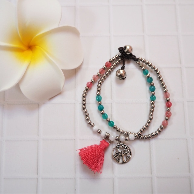 Tussel 2lined Bracelet《PNK》18385031