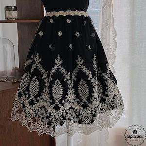 «即納» Lace apron cape 2way Black Bling  レースエプロン ブラック