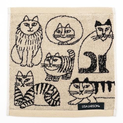 猫タオルハンカチ(リサラーソンスケッチキャット)