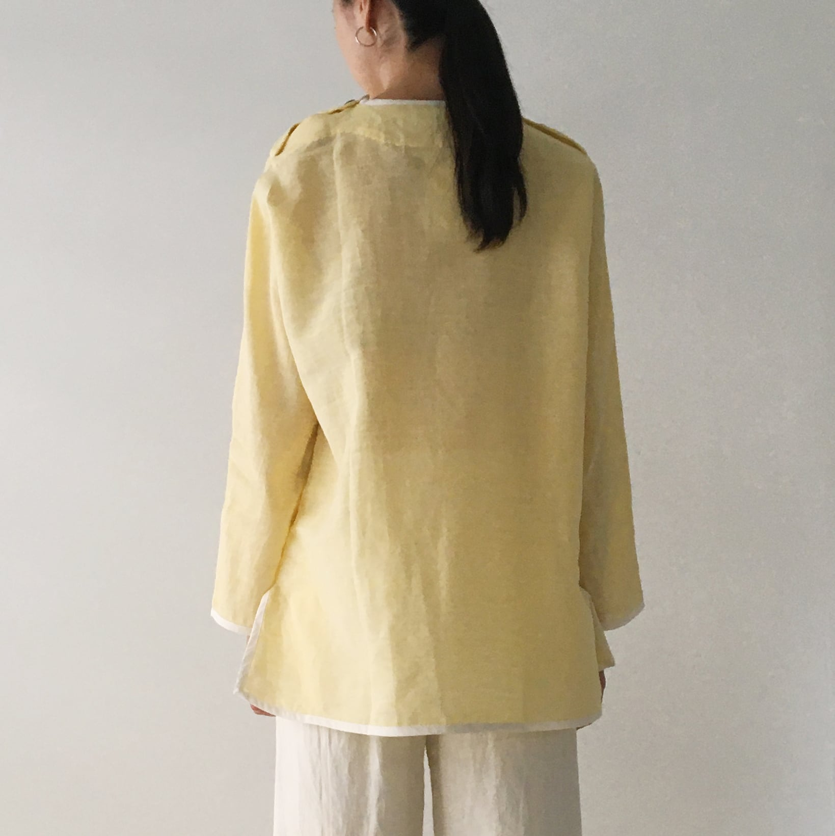 """Over size pullover """"light yellow"""""""