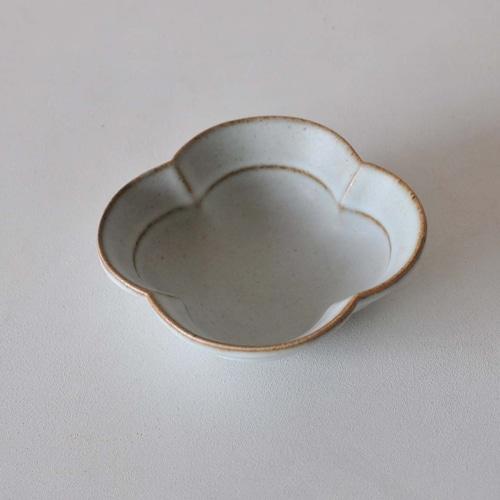 中林範夫(さんちゃ窯)白4寸木瓜小鉢(011)