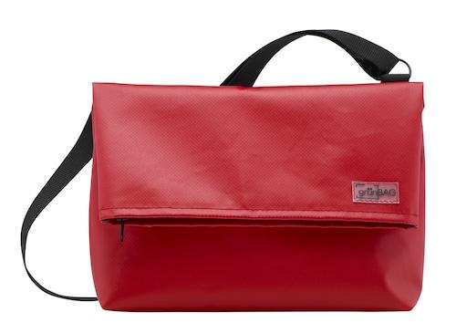 Shoulder A-Bag Medium Red