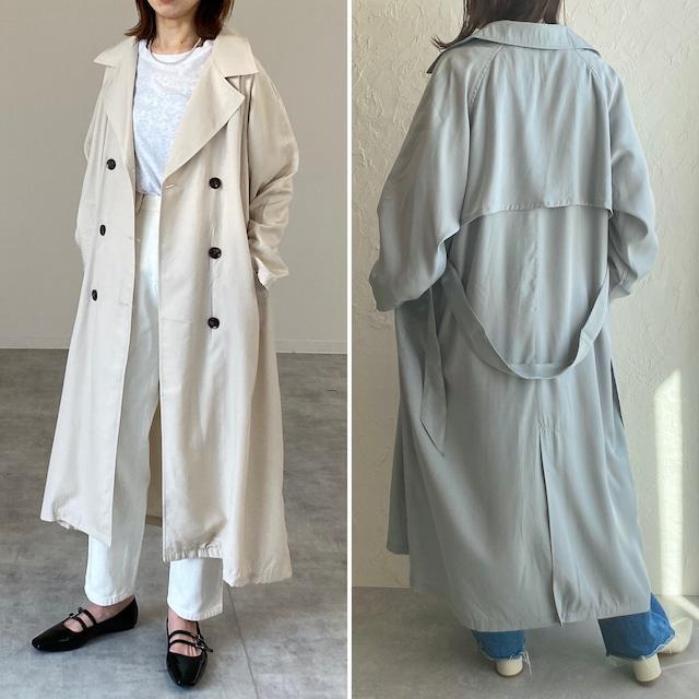 ◆即納◆ オーバーサイズ ロング丈 トレンチコート ロングコート